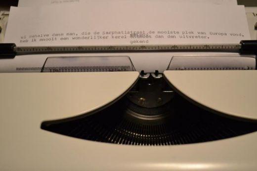 foto typemachine uitvreter