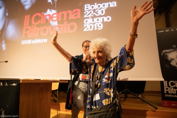 Cecilia Mangiani en Gianluca Farinelli at the screening