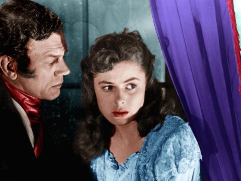 Joseph Cotten en Ingrid Bergman in Under Capricorn, Hitchcock, 1949.