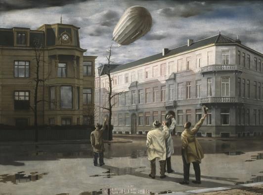Carel Willink, De Zeppelin, 1933, Collectie Museum MORE